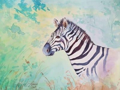 Картина «Жизнь маленькой зебры»
