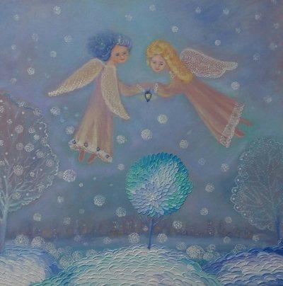 Картина «Зимние ангелы»