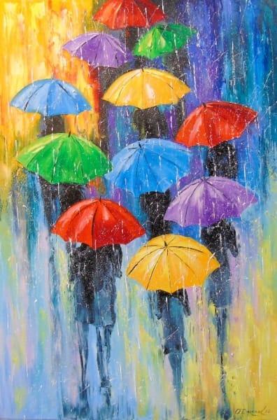 Картина «Зонтики»